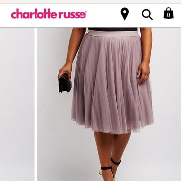 Charlotte Russe Skirts | Plus Size Tulle Skirt | Poshmark
